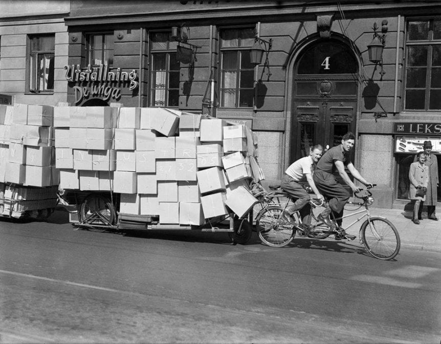 En packad cykel i Stockholm