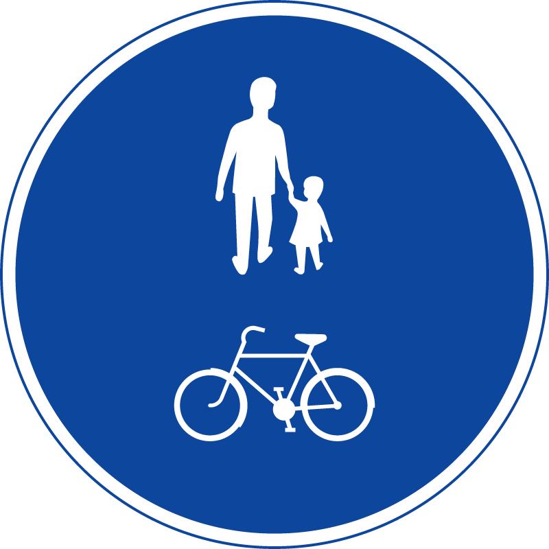Påbjuden gång- och cykelbana
