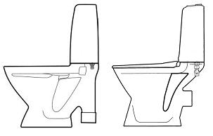 Toalett med S- och P-lås